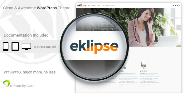 Eklipse Software Responsive WordPress Theme - Software Technology