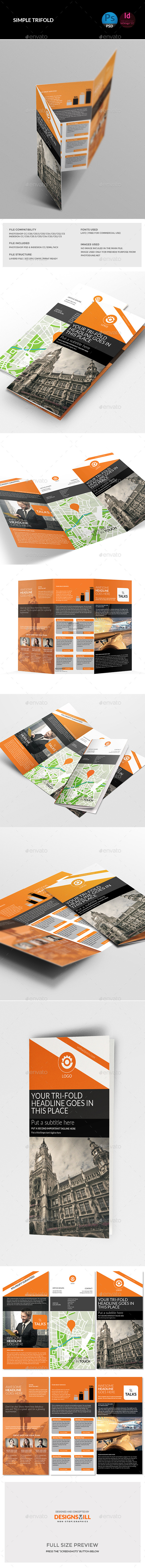 Orange Tri-Fold Template - Corporate Brochures