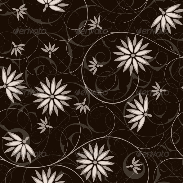Seamless from flower - Patterns Decorative