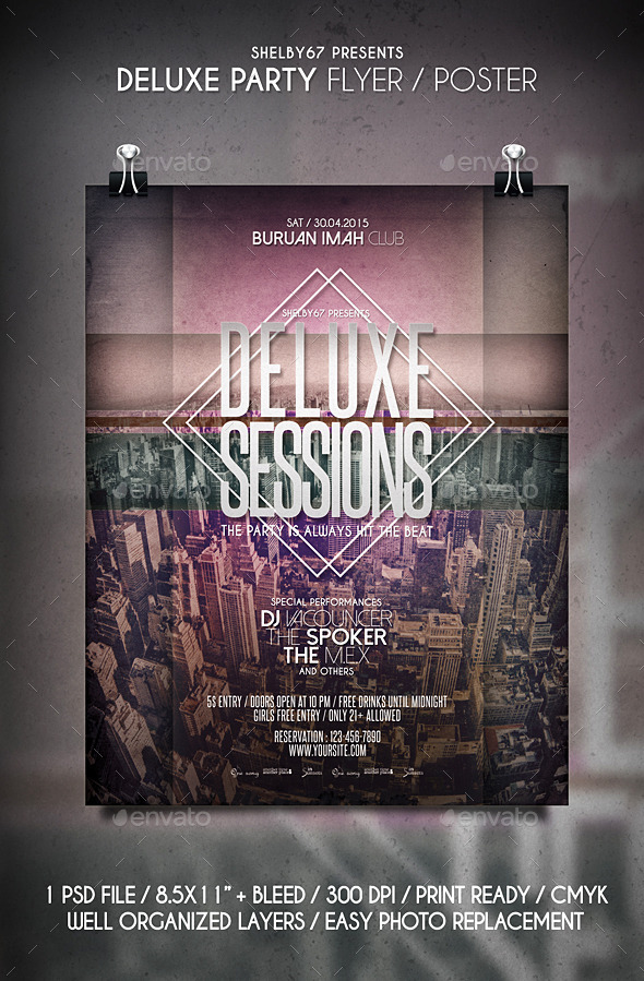 Deluxe Party Flyer / Poster - Clubs & Parties Events