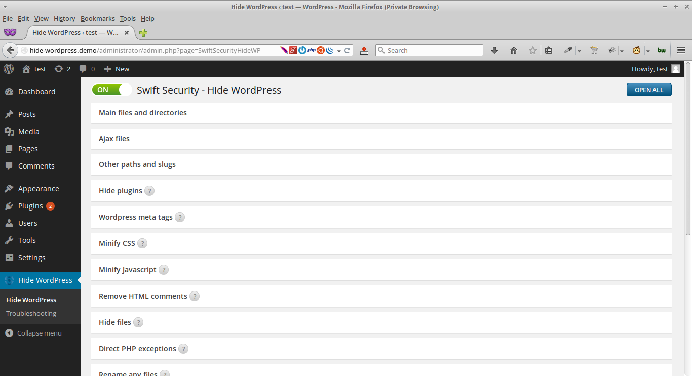 Swift Security - Hide WordPress