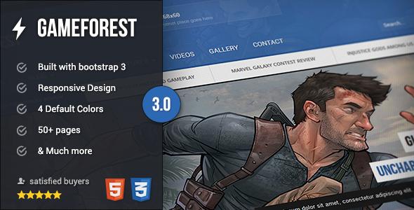 GameForest – Online Magazine HTML Template