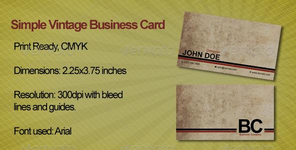 Simple Vintage Business Card - Retro/Vintage Business Cards