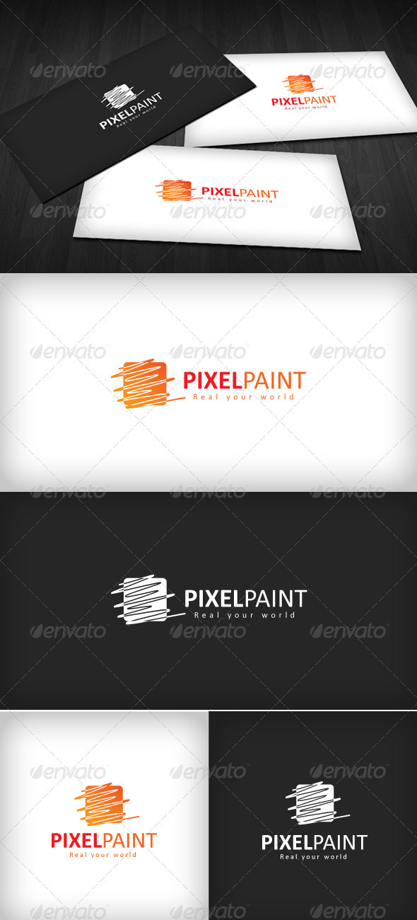 Pixel Paint Logo - Vector Abstract