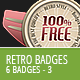 Retro Vintage Badges - Part 3