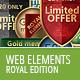 Royal Web Elements - GraphicRiver Item for Sale