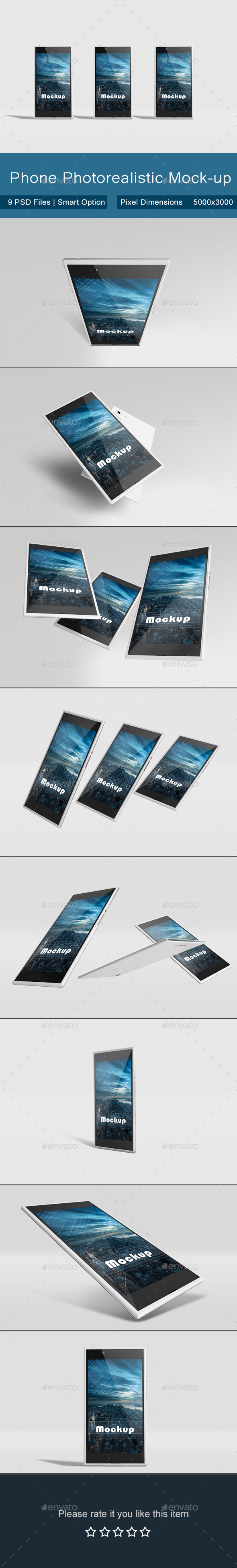 Phone Photorealistic Mock-up - Mobile Displays
