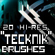 "20 Hi-Res ""Tecknik"" Brushes - GraphicRiver Item for Sale"