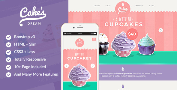 Cake Dream – Responsive Cake Shop Template