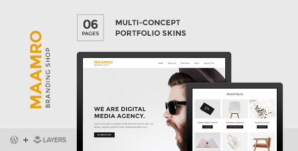 Maamro | Layers Style Kit - Agency Portfolio Skin - CodeCanyon Item for Sale