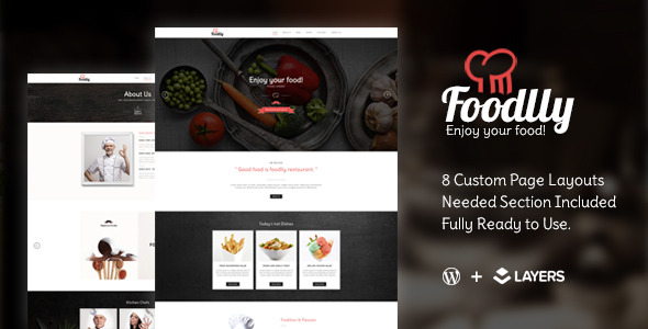 Foodlly | Layers Style Kit - Restaurant Menu - CodeCanyon Item for Sale