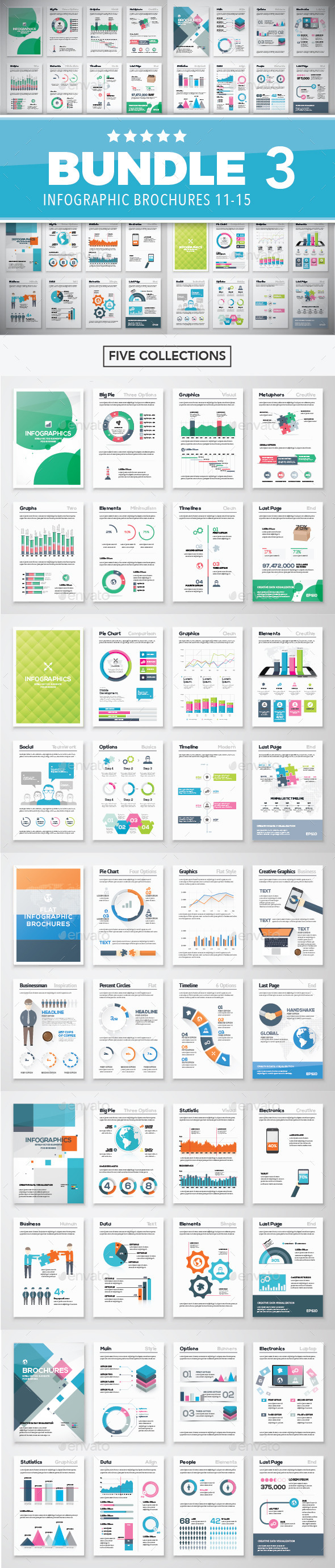 Infographic Brochure Elements Bundle 3 - Infographics