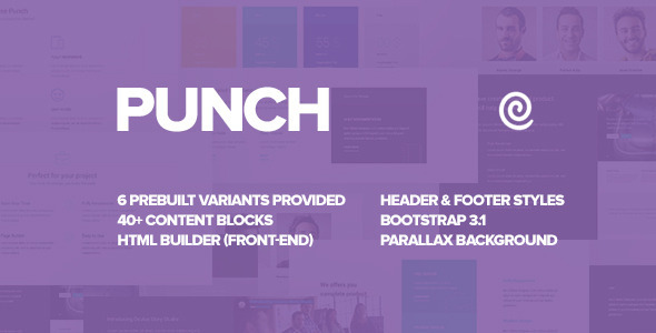 Punch – Landing Page Template with Pagebuilder