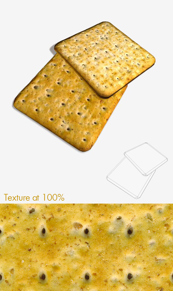 Cheese Cracker - 3DOcean Item for Sale