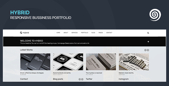 Hybrid – Corporate & Creative WordPress Portfolio