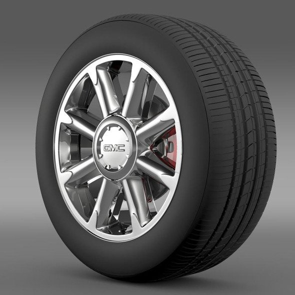 GMC Denali wheel - 3DOcean Item for Sale