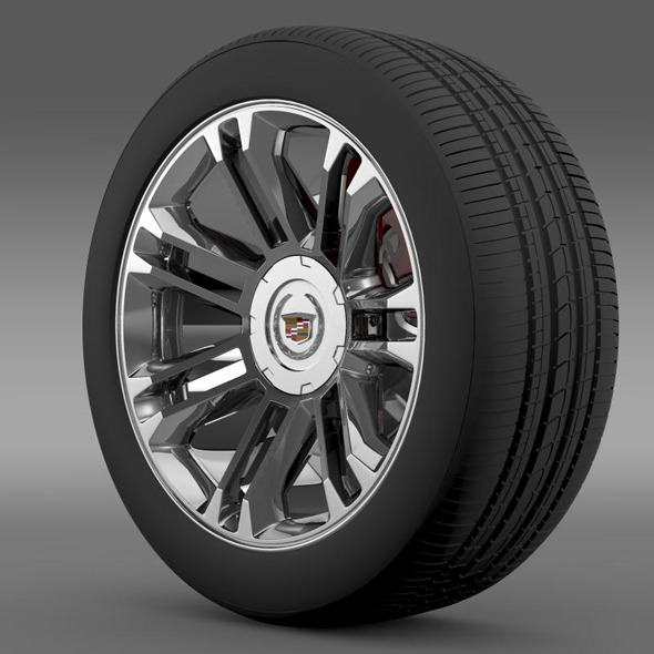 Cadillac Escalade 2013 wheel - 3DOcean Item for Sale