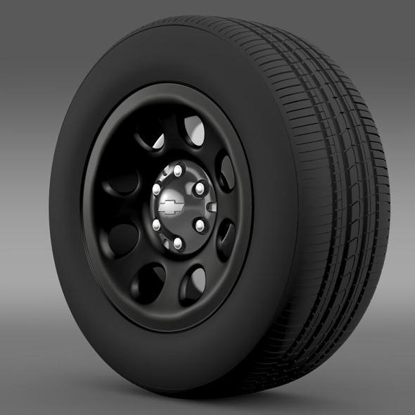 Chevrolet Tahoe Police wheel - 3DOcean Item for Sale