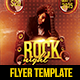 Rock Night Flyer v1 - GraphicRiver Item for Sale