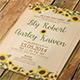 Sunflower Wedding Invitatio-Graphicriver中文最全的素材分享平台