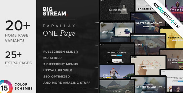 BigStream – One Page Multi-Purpose Drupal Theme