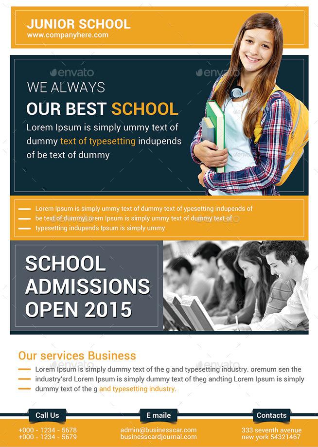 Junior School Education Flyer Bundle by afjamaal | GraphicRiver