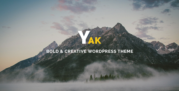 Yak – Creative & Bold Portfolio WordPress Theme