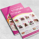 A4 Cupcake Double Side Menu  - GraphicRiver Item for Sale