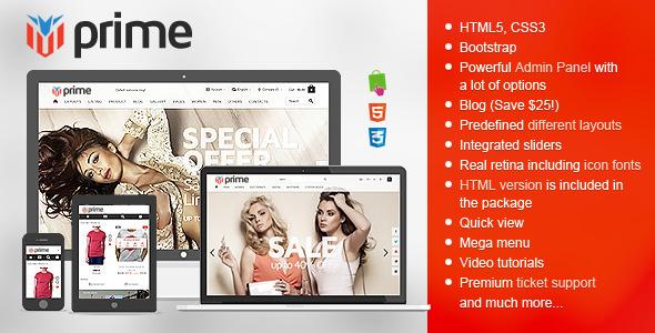 Prime - Responsive Prestashop Theme - PrestaShop eCommerce