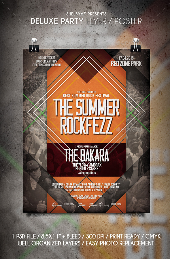 Rock Music Flyer / Poster Vol.6 - Events Flyers