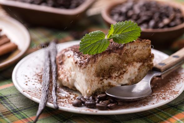 Tiramisu dessert - Stock Photo - Images