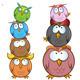 Owl Group Cartoon  - GraphicRiver Item for Sale