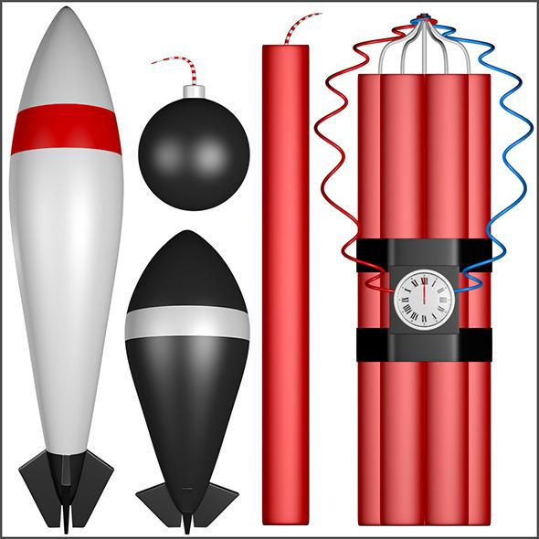 Explosives - 3DOcean Item for Sale