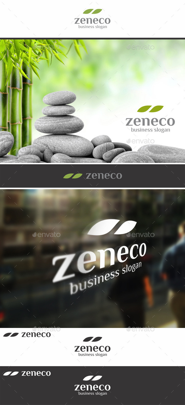 Zen Eco Nature Leaf Logo - Symbols Logo Templates