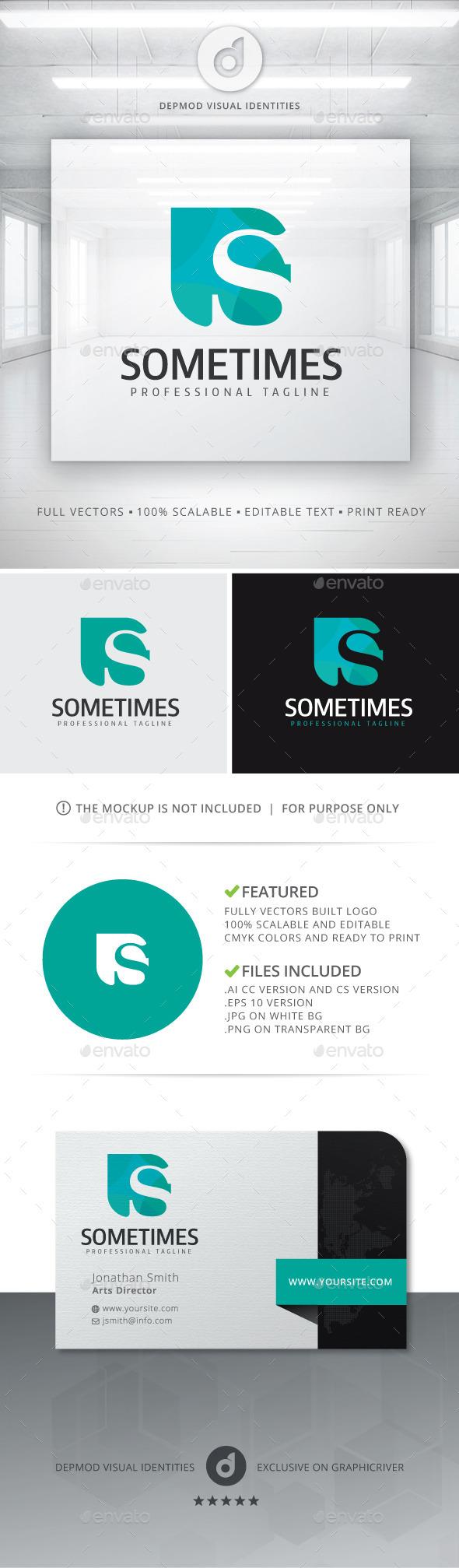 Sometimes Logo - Letters Logo Templates