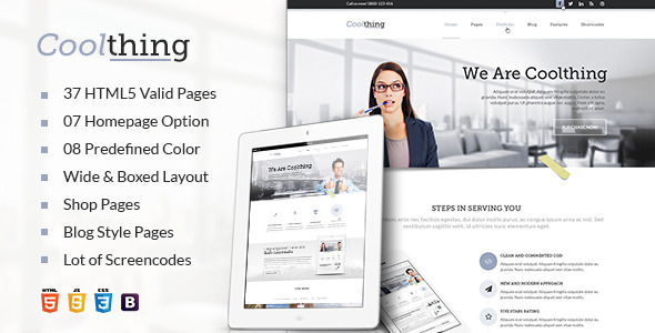 Coolthing Responsive HTML Template