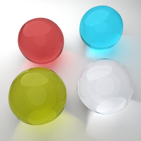 4 Glass Material for Blender  - 3DOcean Item for Sale