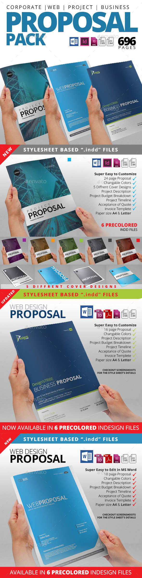 Proposal Pack 1 - Proposals & Invoices Stationery
