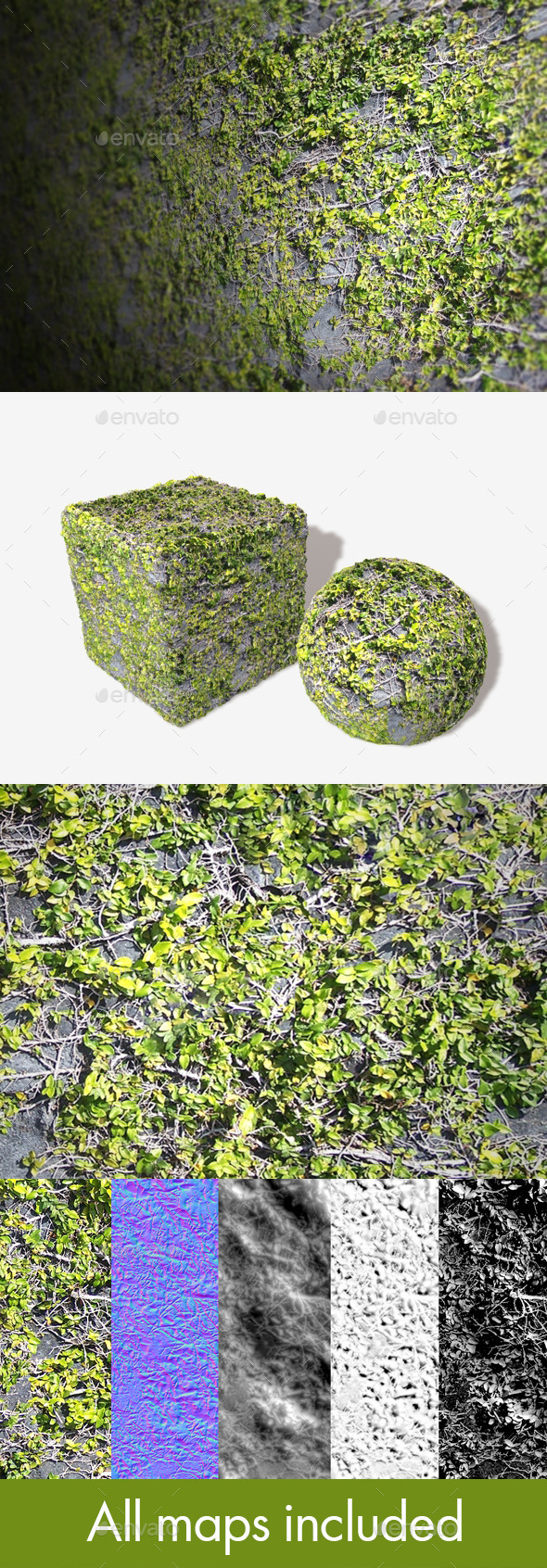 Rock Vines Seamless Texture - 3DOcean Item for Sale