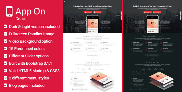 App on – Multipurpose Landing Page Drupal Theme