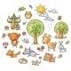 Cartoon Forest Set - GraphicRiver Item for Sale