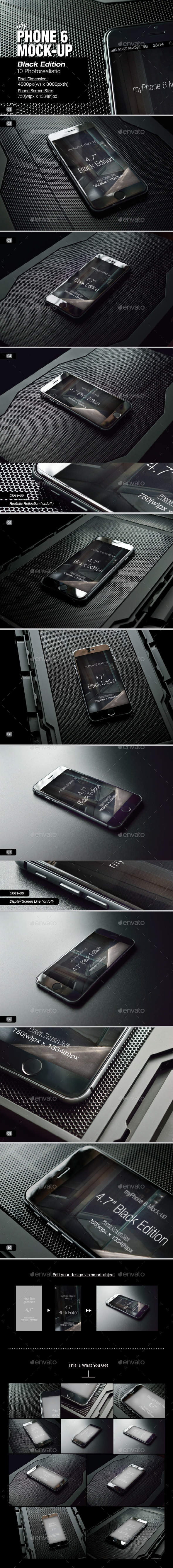 myPhone 6 Mock-Up v03 - Mobile Displays
