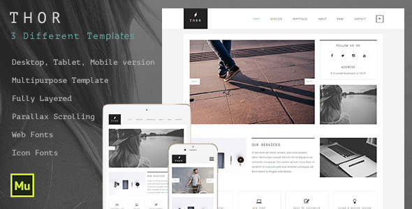 Thor - Creative Multipurpose Muse Template - Creative Muse Templates