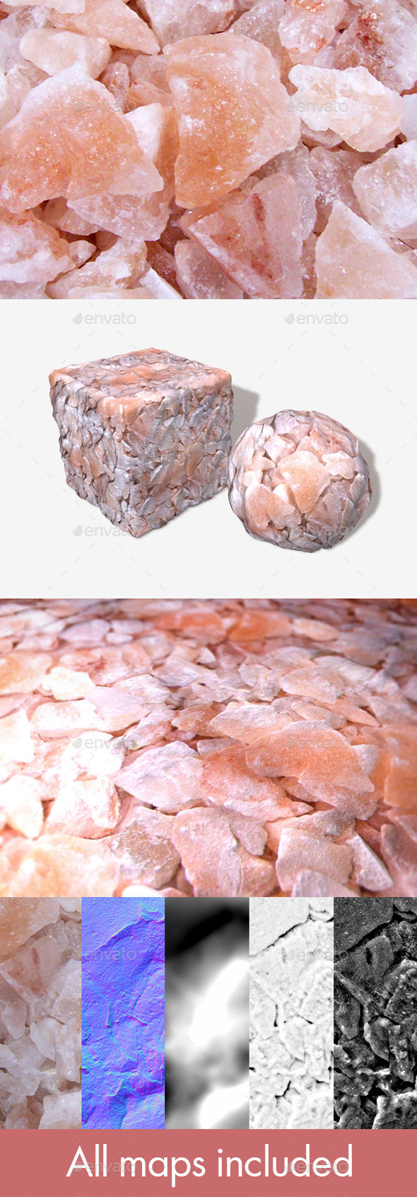 Rose Quartz Geodes Seamless Texture - 3DOcean Item for Sale