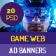 Game Web Ad Banner - GraphicRiver Item for Sale