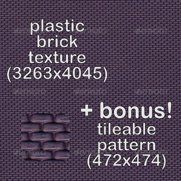 Tileable Plastic Brick Texture - Miscellaneous Textures