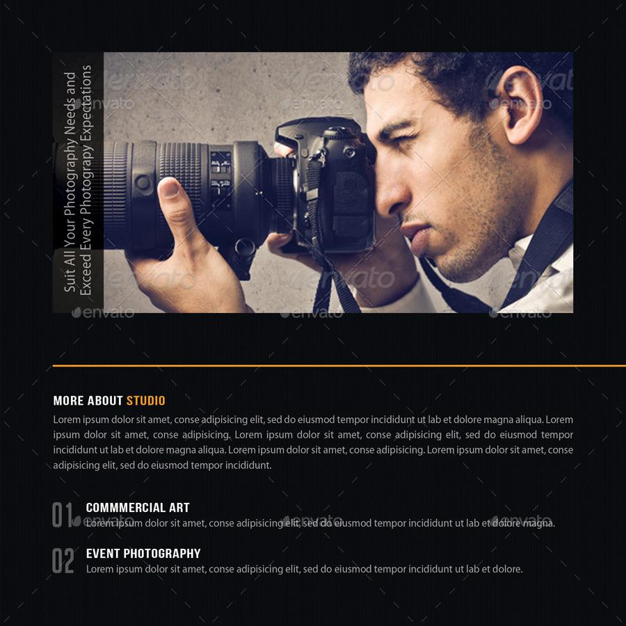 Photography Studio Square 3Fold Brochure V03 by rapidgraf – Studio Brochure