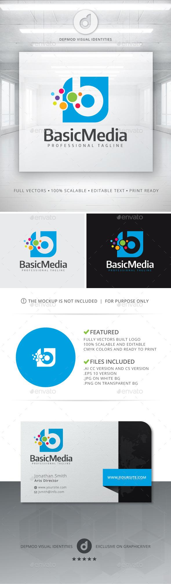 Basic Media Logo - Letters Logo Templates