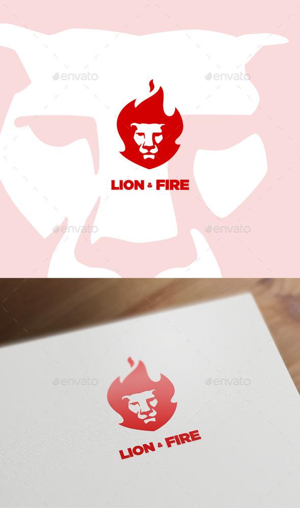 Lion & Fire