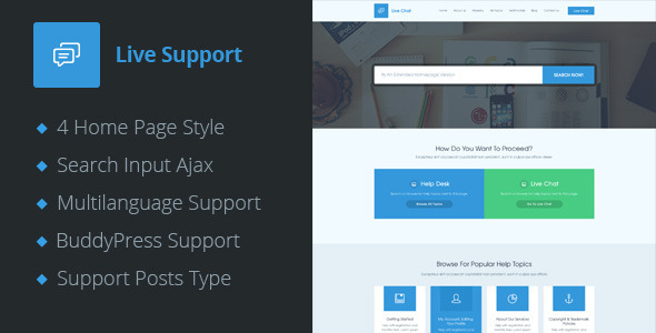 Live Support – Helpdesk Responsive WordPress Theme